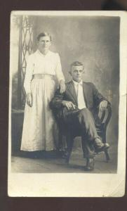 RPPC BOSWELL OKLAHOMA LYDIA HUSBAND FAMILY VINTAGE REAL PHOTO POSTCARD