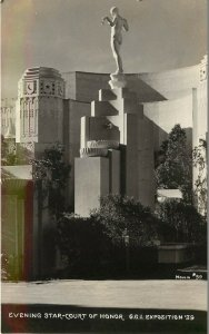 1939 RPPC Golden Gate Expo Evening Star- Court of Honor San Francisco Moulin #59