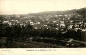 NH - Hinsdale. View from Cannon Hill, circa 1906
