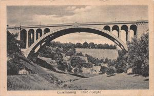 Pont Adolphe, Luxembourg, Early Postcard, Unused
