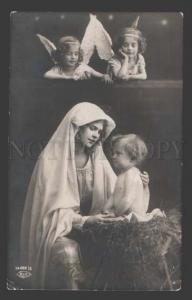114279 Winged ANGEL & Baby JESUS Madonna Vintage PHOTO PC