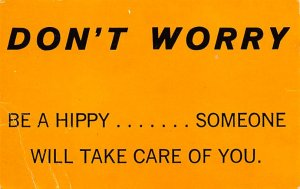 Motto & Sayings Post Card Don't Worry Unused