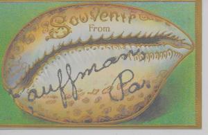 Kauffman Pennsylvania Souvenir From conch shell glittered antique pc Z44006