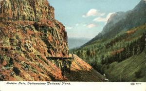 Golden Gate at Yellowstone National Park WY, Wyoming - pm 1909 - DB