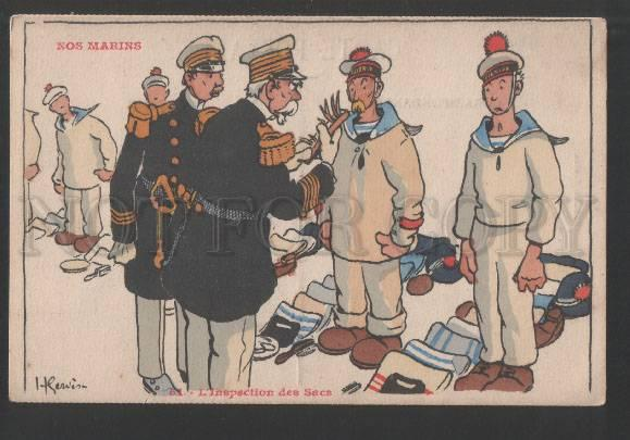 119201 FRENCH NAVY Inspectorate Bags by GERVESE Vintage PC