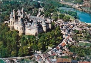 France Pierrefonds Vue aerienne Le Chateau 1979