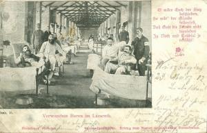 BOER WAR, Wounded Boers in the Field Hospital (1902) South Africa