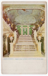 Boston, Mass, Grand Stairway, Tremont Street Entrance, Keith's Theatre
