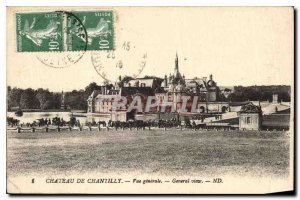Old Postcard Chateau de Chantilly General View