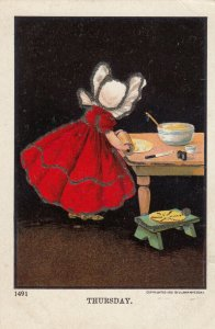 DIXON ; Sunbonnet Girls Days of the Week , 00-10s