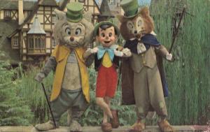 Pinocchio, Foulfellow and Gideon, DISNEYWORLD, 50-70's