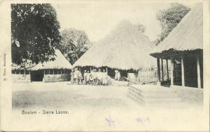 sierra leone, BOULAM, Village Scene with Native Houses (1910)