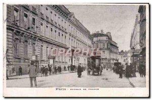 Old Postcard Paris Banque De France