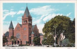 Illinois Galesburg Central Church Curteich