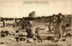 CPA AK Ber-Rechid - Cuisines des Senegalais MAROC (964167)