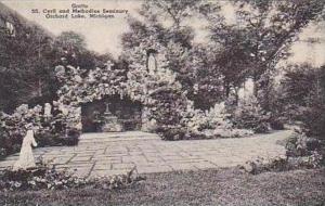 Michigan Orchard Lake Grotto S S Cyril and Methodius Seminary Albertype