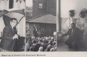 Holmfirth BBC Weatherman Ian McGaskill Opens Museum Photo Postcard
