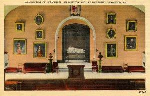 VA - Lexington. Washington & Lee University, Lee Chapel, Interior