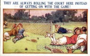 No. 13562 Bamforth Co., N.Y., USA Tennis, Old Vintage Antique, Post Card Post...