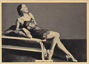 B A T Vintage Cigarette Card Grace & Beauty No 43 Lillian Ellis  1938