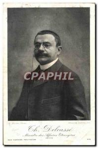 Old Postcard Th Delcasse Minsiter of Foreign Affairs in 1904