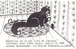 Black Cat , National Post Card Week, 1986
