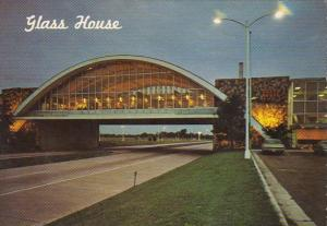 Oklahoma City Glass House Restaurant At Night Will Rogers Turnpike