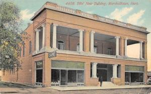 Marshalltown Iowa~Elks Club New Building~BPOE~Storefront Cafe~1910 Postcard
