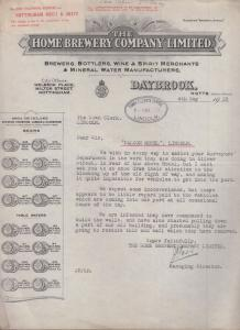 Falcon Hotel Lincoln Road Works Traffic Congestion 1928 Antique Letter Ephemera