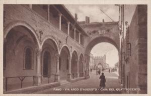 FANO , Italy ; 1910-20s , Via Arco D'Augusto - Casa Del Quattrocentro