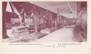 BOSTON, Massachusetts, Pre 1907; Aisle in Mammoth Rug Department, RH White Co