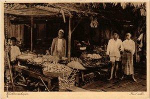 CPA AK Vruchtenverkooper Fruit seller INDONESIA (566039)