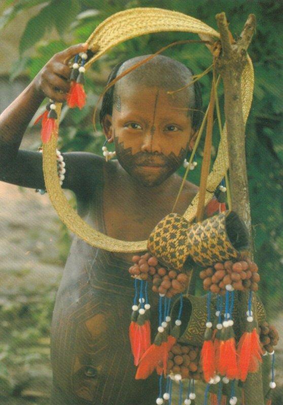 BRASIL NATIVO , 1960-80s ; Young Mentuktire (Kaiapo) girl