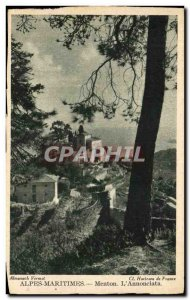 Old Postcard Menton L & # 39Annonciata