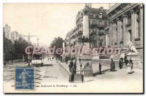 Old Postcard Le Havre Boulevard De Strasbourg