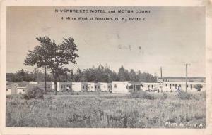 Moncton New Brunswick Canada Riverbreeze Motel Real Photo Postcard JA4741986