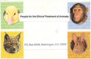 Cat Post Card, Cats Postcards Ethical Treatment of Animals Washington DC, USA...