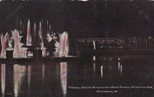 PHILADELPHIA, Pennsylvania, 00-10; Electric Fountain at Night, Willow Grove Park