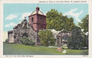 Michigan Irish Hills Entrance To Way Of The Cross Shrine St Joseph's Church C...