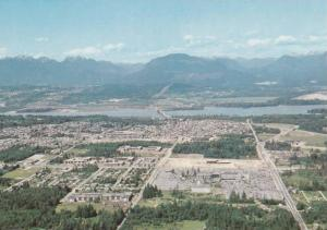 Aerial view of Surrey, Port Mann Bridge,   The Fraser River and North Shore M...
