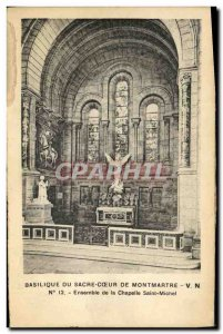 Old Postcard From Paris Basilica Sacre Coeur From Montmartre Set of St. Micha...