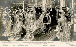 Prussian Royalty - Wedding of Princess Victoria-Luise of Prussia.    *RPPC   ...