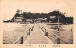 Enoshima Japan Entrance Scenic View Antique Postcard J63357