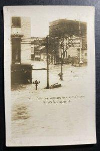 Mint USA RPPC Postcard Dayton Ohio Third & Jefferson Street At The Worst 1913