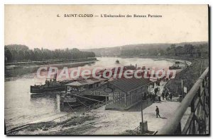 Postcard Old Saint Cloud L'Embarcadere Bateaux Parisiens