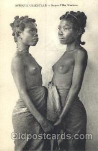 Afrique Oriental, Jeune Filles Masokoro African Nude, Nudes, Postcard Post Ca...