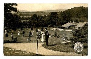 UK - Wales, Llangammarch Wells. Lawn of Pump House. L&NW Rwy