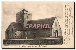 Postcard Old St Martha Great Britain & # 39s church near Guildfor