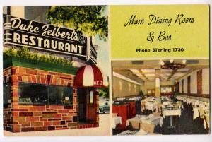 Duke Zeibert's Restaurant, Washington DC