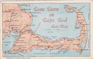 Come Down On Cape Cod Massachusetts Auto Map Curteich